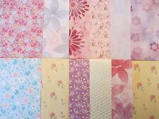 12 x rosa e viola A5 carte per creazione di Biglietti & Scrapbooking