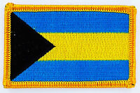 BAHAMAS FLAG PATCH BADGE IRON ON EMBROIDERED NEW