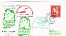Alemania. Sobre con sello de Alemania , viñetas  y matasellos del Correo Aereo