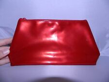 New AVON ALWAYS PERFECT CLUTCH RED PVC Cosmetic Accessory Bag