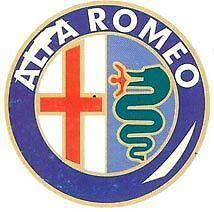 ALFA ROMEO 4 Pz Decorflex Adesivi 52mm Logo Adesivo Cod. 03.505/3