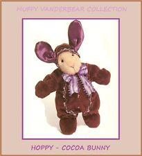 MUFFY VANDERBEAR COLLECTION  -  HOPPY VANDERHARE  -  COCOA BUNNY  - NEW - MINT
