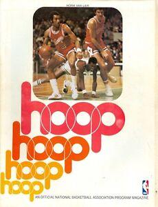 1976-77 Cleveland Cavaliers vs Chicago Bulls Program: Norm Van Lier