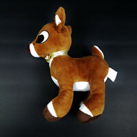 "Rudolph Reindeer Plush 50 Years 9"" Stuffed Animal - VGC"
