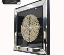 Art Deco Square Decorative Mirrors with Wall-Mounted