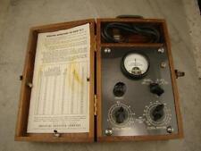 "Vintage ""Moisture Register Company"" Meter in Wooden Box Model# DC-2 Ser# 1076"