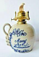 Vintage Salmon Falls Stoneware Pottery 1995 Merry Christmas Pottery Art Lantern