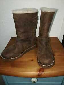 UGG Kensington, Frauen Schuhe Boots Leder Stiefel Gr: 38 UK:5,5