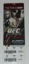 NICK DIAZ ANDERSON SILVA SIGNED AUTO'D UFC 183 COMMEMORATIVE TICKET CHAMP HOF
