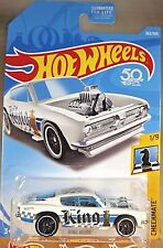 2018 Hot Wheels #362 Checkmate-King 1/9 KING KUDA White w/Black Pr5 Sp 50th Ann
