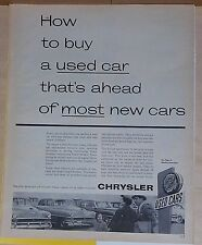 1954 magazine ad for Chrysler - How to buy a used car that's ahead of most new