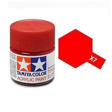 TAMIYA Colore acrilico ROSSO LUCIDO pennello plastica metallo TAMIYA X-7 10ml