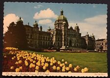 Postcard Vintage The Parliament Buildings Victoria BC Canada Dexter Scallop Edge