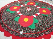 "New ListingMary Engelbreit Cherry Cherries Christmas Tree Skirt 50"" Scalloped Felt Cotton"