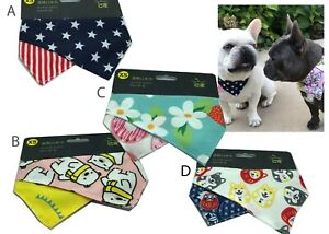 2 Pack - Bandana Scarf Triangle Bibs Neckerchief Over Collar For Dogs and Cats