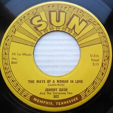 JOHNNY CASH vg+ 45 WAYS OF A WOMAN IN LOVE YOU'RE THE NEAREST THING TO HEAVEN m3