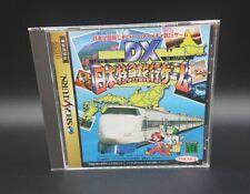 DX Nihon Tokkyuu Ryokou Game for Sega Saturn Board Game SS Japan NTSC-J