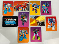 Lot of 10 Transformers 1985 Vintage Collector Cards