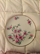 VINTAGE USA LENOX PEACHTREE GOLD TRIM ROUND PINK FLORAL FINE CHINA PLATE DISH
