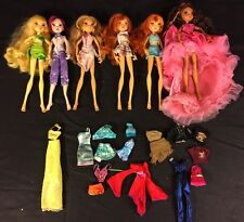 "Lot Of 6 Winx Club 9"" Dolls Flora Layla Bloom Stella Tecna"