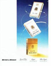 PUBLICITE ADVERTISING 017  1990  les cigarettes Benson & Hedges
