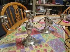 Preisner Sterling Silver Convertible Candlestick holders (2)