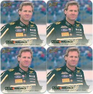 Lot Of 4 RUSTY WALLACE 1994 Action Packed Coastars # 16