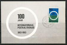 100 jaar INTERNATIONAAL POSTAAL OVERLEG 1e DAG MAX. KAART DEN HELDER 7.V.63 Ms22
