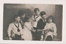 Vintage Postcard King Gustaf VI Adolf & Margaret Crown Princess Sweden & Family