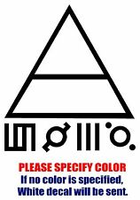 "Thirty 30 Seconds To Mars Band Vinyl Decal Car Sticker Window bumper Laptop 6"""