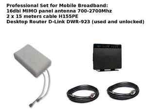 Mobile Broadband Antenna Aerial Booster LTE 4G 3G 2G Dlink DWR-923 800 2600 Mhz