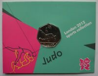 2012 London Olympic Games 50p Sports Collection Uncirculated Coin Judo