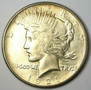 1921 Peace Silver Dollar $1 - Uncirculated Details (UNC MS) - Rare Date!