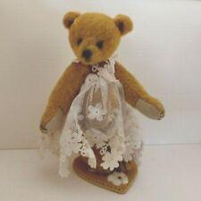 "Brackenbury Bears Miniature Bear by British Gilly Ashcroft.  3 1/2""  OOAK"