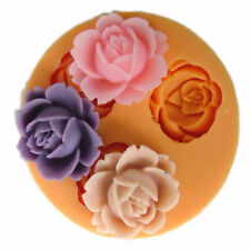 3D Rose Flower Fondant Cake Chocolate Sugarcraft Mold Cutter Silicone Tool Mould