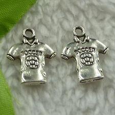 free ship 200 pieces tibet silver shirt charms 19x15mm #3279