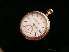 Antique Elgin Pocket Watch Safety Pinion Excelsior Case Beautiful Size 18