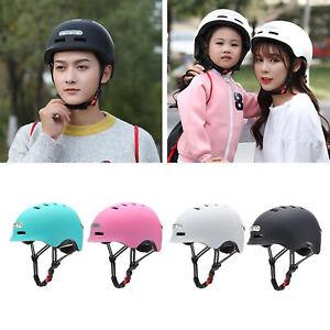 Skateboard Helmet w/ Headlight Bike Skating Crash Hat Road USB Light Helmet