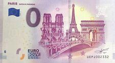 BILLET PARIS BATEAUX PARISIENS FRANCE 2019-1 N° RADAR 2332