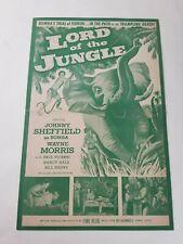 Bomba Lord of the Jungle 1955 Press Book Johnny Sheffield