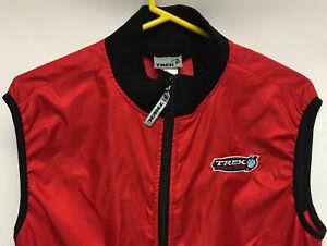TREK RACING TEAM Full-Zip Cycling VestJersey Men's Medium Sleeveless Red NWOT