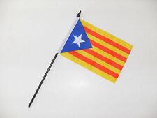 "ESTELADA BLAVA SMALL HAND WAVING FLAG 6"" x 4"" Catalonia Crafts Table Top Display"