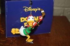 GROLIER Disney DONALD DUCK President's Edition Ornament Mint in Box Hockey