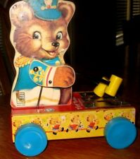 Tiny Teddy Xylophone Pull Toy Fisher Price Special Reproduction