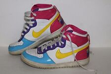 Nike Big Nike High LE Casual Sneakers, #344578-171, Wht/Pink/Ppl, Youth Size 7 Y