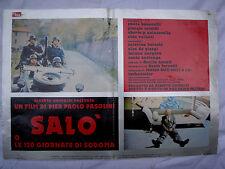 Salò 120 giornate di sodoma fotobusta poster affiche Pasolini Nazisti Nazi war 1