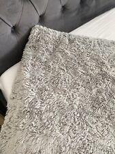 Next Faux Fur Grey Throw 165 X 240cm BIG