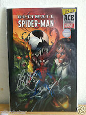 ULTIMATE SPIDERMAN 1 WIZARD ACE EDITION SIGNED BRIAN MICHAEL BENDIS MARK BAGLEY
