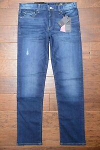 Armani Exchange A|X J16 Men's Straight Fit Blue Stretch Cotton Denim Jeans 36R