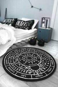 Killstar Stellar Round Rug NEW Floor Mat Moon Ouija Constellations Goth Virgo Le